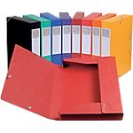 10 boîtes de classement   Exacompta   Cartobox   dos 6 cm   assorties