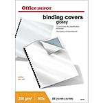 100 Couvertures glacées   Office DEPOT   format A4 Blanc