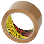 Ruban adhésif d'emballage Polypropylène Scotch 50mm (l) x 66m (L) 48 µm Marron   6