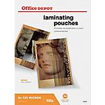 100 Pochettes de plastification   Office DEPOT   A4   216 x 303 mm   épaisseur 2 x 125 microns