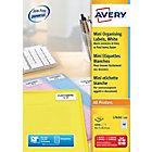 4000 mini étiquettes Blanches Laser L7654   Avery   40