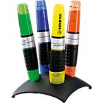 4 Surligneurs   Stabilo Boss   Luminator couleur assorties sur socle