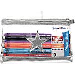 Stylos à encre gel Paper Mate Star Premium Kit Transparent