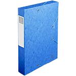 Boites de classement à élastique Exacompta Carte lustrée véritable 60 mm 32 (H) x 24 (l) cm Bleu   10