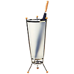 Porte parapluie Métal chromé, polyphane Unilux 71 (H) x 27 (ø) cm Chrome, transparent