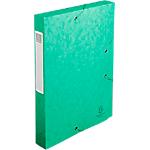 Boites de classement à élastique Exacompta Carte lustrée véritable 40 mm 32 (H) x 24 (l) cm Vert   10