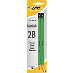 2 crayons à papier   Bic  Criterium pointe grasse 2B