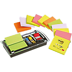 Post it® 12 Blocs Notes repositionnables   Z Notes assorties   DISTRIBUTEUR & INDEx OFFERTS