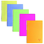 Cahier double spirale   Clairefontaine   Linicolor   17 x 22 cm   grands carreaux   100 pages   coloris assortis