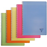 Cahier double spirale   Clairefontaine   Linicolor   A4   21 x 29,7 cm   grands carreaux   180 pages   coloris assortis