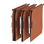 25 dossiers suspendus kraft orange armoire L'oblique AZ fond 15 mm