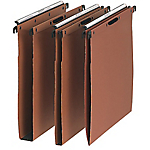 25 dossiers suspendus kraft orange tiroir L'oblique AZ fond 15 mm