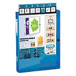 Boîte de classement personnalisable   Dos 40 mm   24 x 32 cm   bleu translucide