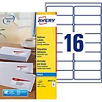 25 Feuilles pour étiquettes adresse jet d'encre   Avery   16 étiquettes 99,1 x 33,9 mm