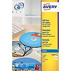 Étiquettes pour CD et DVD Avery C9660 Blanc 50 étiquettes 50