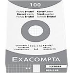 100 fiches Bristol blanches Q5 105 x 148 mm   exacompta