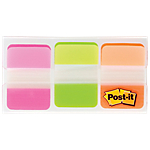 Distributeur d'index   marques pages Post it Durable 3,81 (H) x 2,5 (l) cm Assortiment   66 index