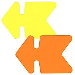25 flèches   16 x 24 cm   jaune