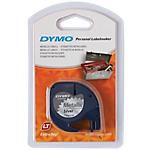 Ruban d'etiquettes DYMO Letratag 12mm 12mm (L) x 4m (l) Noir sur argenté