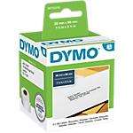 2 rouleaux de 130 étiquettes blanches   Dymo   89 x 28 mm