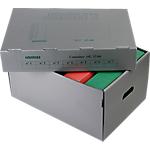 Container pour boites archives Extendos 26 (H) x 36 (l) x 51 (P) cm Carton Gris