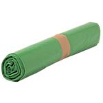 Sacs poubelle biodégradables Polyéthylène 50 l  80 (H) x 68 (l) x 0,035 (ø) cm 35 µm Vert   500