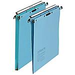 10 dossiers suspendus L'Oblique AZ   5 x fond 15mm et 5 x fond 30mm   Bleu   Tiroir