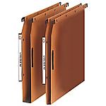 5 dossiers suspendus kraft pour armoire fond 15 mm et 5 dossiers suspendus kraft velcro pour armoire fond 30 mm    L'Oblique AZ   orange