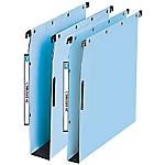 10 dossiers suspendus L'Oblique AZ   5 x fond 15mm et 5 x fond 30mm   Bleu   Armoire
