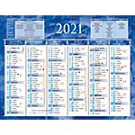 Calendrier semestriel 2018 6 mois recto verso 17,5 (H) x 13,5 (l) cm Bleu ou rouge