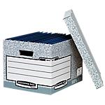 Container pour boites archives Fellowes R Kive 29,5 (H) x 39 (l) x 44,5 (P) cm Carton Gris   Modulable, solide et compacte, cette grande boîte de rangement R Kive Fellowes, vendue en lot de 10, est compatible avec le classeurs à leviers, le listings informatiques ou les boites d'archives System.