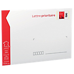 Enveloppes Prioritaires pré timbrées La Poste Blanc 16,2 (H) x 22,9 (l) cm