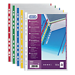 Pochettes bord couleurs ELBA A4 Assortiment   100