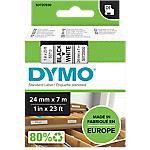 Ruban d'étiquettes DYMO D1 53713 24mm (L) x 7m (l) Noir, blanc