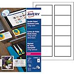 100 Cartes de visite   Avery   Quick & Clean pour imprimante laser couleur qualité mat 270g