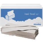 Essuie-mains Niceday 1 épaisseur Pliage en C Gris - 20 Unités de 182 Feuilles