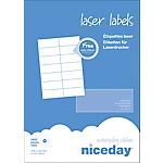 Étiquettes d'adresses Laser 14 étiquettes par feuille niceday 105 (H) x 42 (l) mm Blanc   1400
