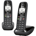 Téléphone Fixe Sans fil Gigaset AS470 Duo Noir
