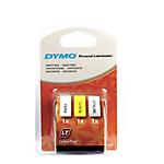 Ruban d'étiquettes DYMO Letratag 12mm (L) x 4m (l) Noir, jaune