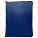 Protège documents Exacompta Vega PVC 55 microns rigide et non adhérent 30 Pochettes pochettes A4 Bleu