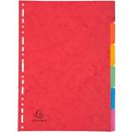Intercalaires carte lustrée Exacompta 6 onglets