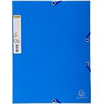 Chemise 3 rabats + élastiques carte lustrée   Forever   bleu