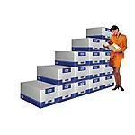 Container pour boites archives FAST Géant 29 (H) x 38,5 (l) x 53,5 (P) cm Carton Blanc   Dimensions : (H x l x L) en cm : 29 x 38,5 x 53,5.
