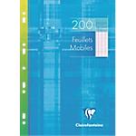 200 Feuillets mobiles   Clairefontaine   A4   Grands carreaux