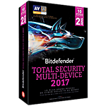 Logiciel Antivirus Bitdefender  Total Security Multi Device 2017?   2 ans