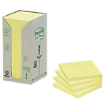 Notes repositionnables Post it Classique 76 (H)  x  76 (l) mm 100 Feuilles Jaune   16 blocs