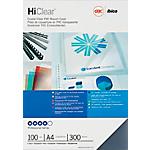 100 Couvertures transparentes en PVC   GBC   format A4 300 microns