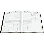 Semainier 2017 Plancher Économique 1 Semaine sur 2 pages 24 (H) x 24 (l) cm Noir