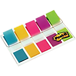 Index   marques pages Post it Classique 4,32 (H) x 1,19 (l) cm Assortiment Fluo   100 index