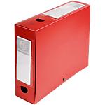 Boites de classement à pression Exacompta Opaque 80 mm Rouge